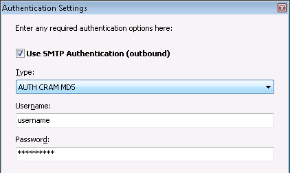 GroupMail 6 - Step 6 - Enter SMTP authentication details
