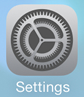 iPad iOS9 - Step 1 - Click Settings