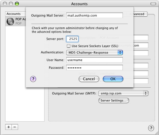 how to set default email account on mac