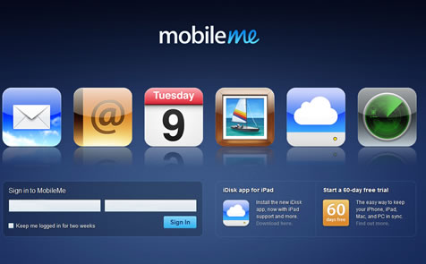 Apple Mobile Me - Step 1 - Login to your account