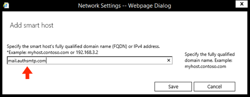 Exchange 2016 SMTP connector and smarthost setup