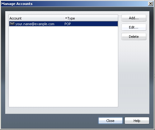 Opera v9 - Step 2 - Select email account and click Edit