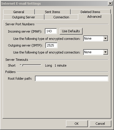 Outlook 2010 authenticated smtp mail relay alternate smtp port setup - Smtp and pop3 port number ...
