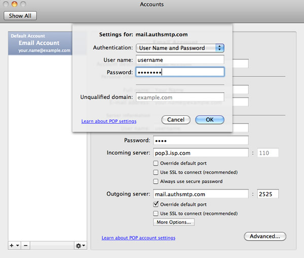 Outlook 2011 For Apple Mac Os X Authenticated Smtp Server