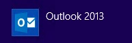 Outlook 2013 - Step 1 - Open Outlook 2013 - Click on icon