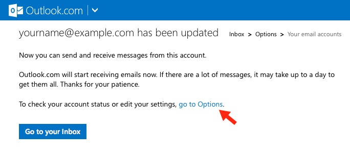 how to make default send on second account in outlook