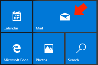 Windows 10 Mail App - Step 2 - Open the Mail App