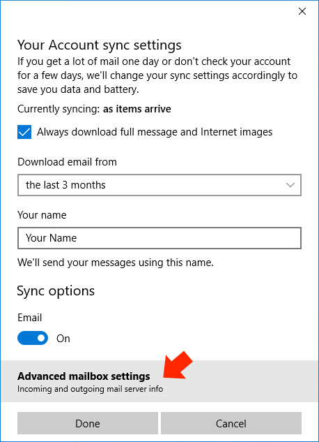 how to set gmail as default email on windows 10