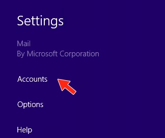 Windows 8 Mail App - Step 5 - Microsoft's outgoing email server