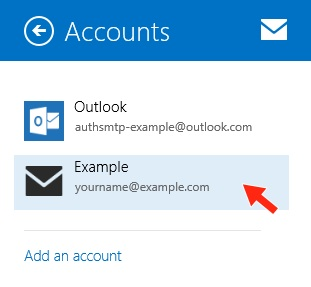 Windows 8 Mail App - Step 6 - Advanced SMTP settings